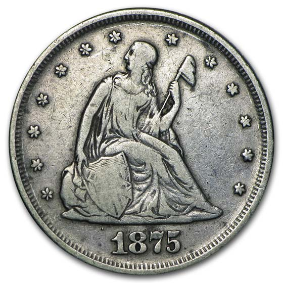 1875 Twenty Cent Piece Fine