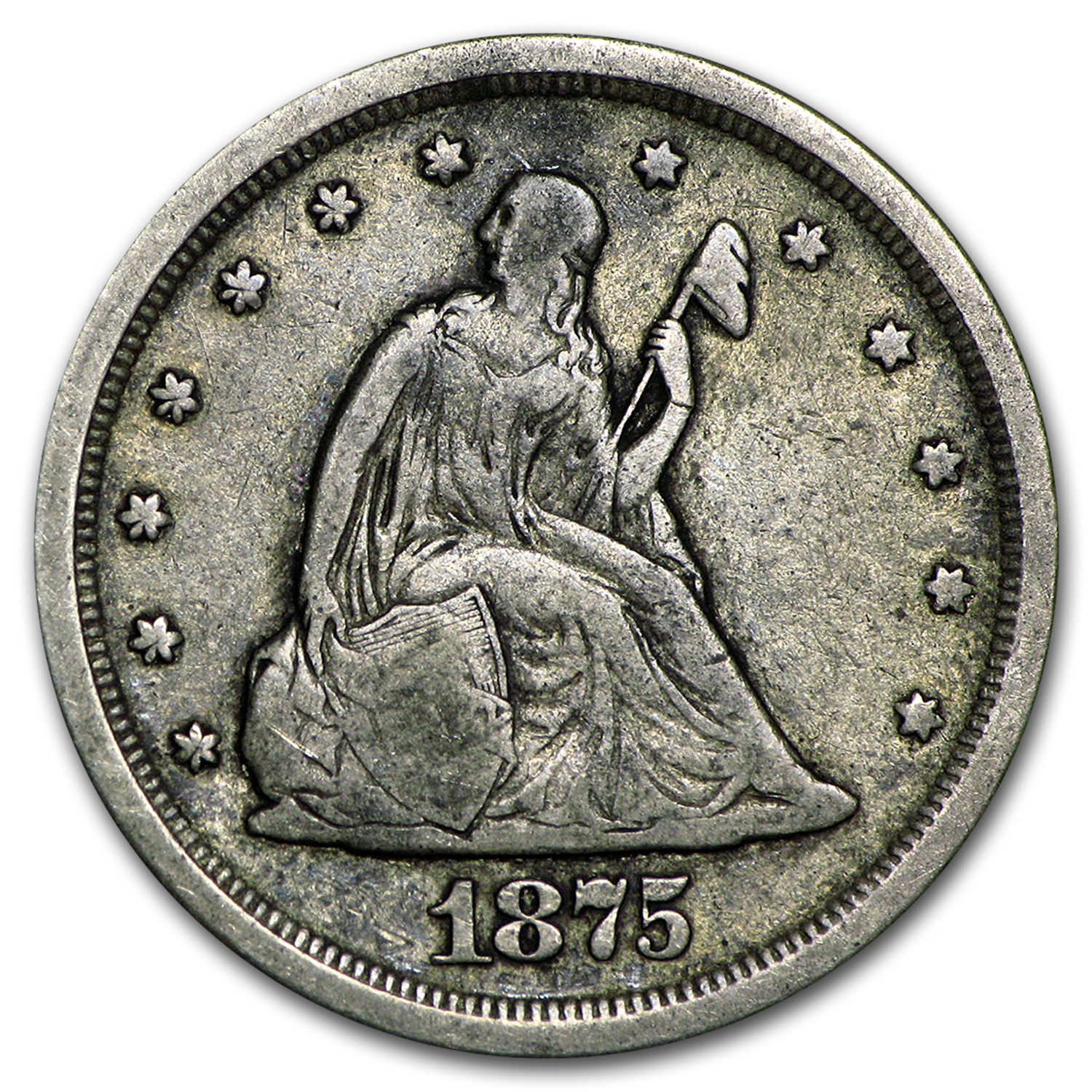 1875-S Twenty Cent Piece VF