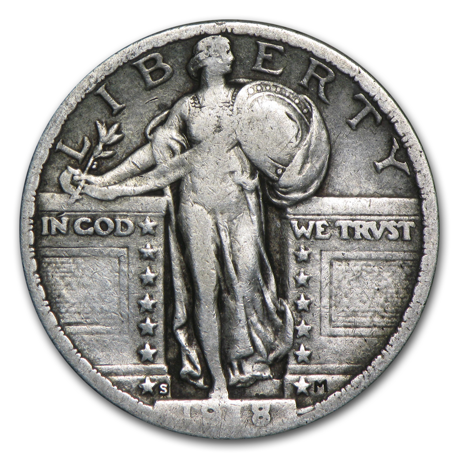1918-S Standing Liberty Quarter Very Fine