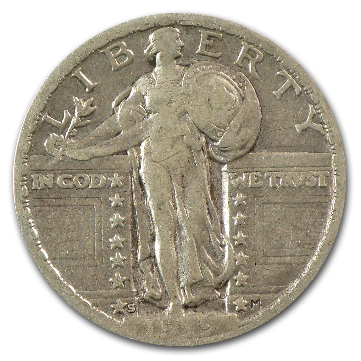 1919-S Standing Liberty Quarter VF
