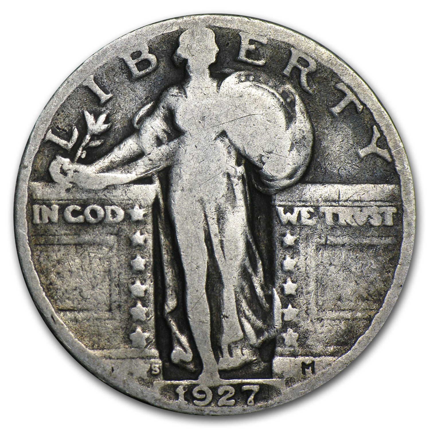 1927-S Standing Liberty Quarter Very Good