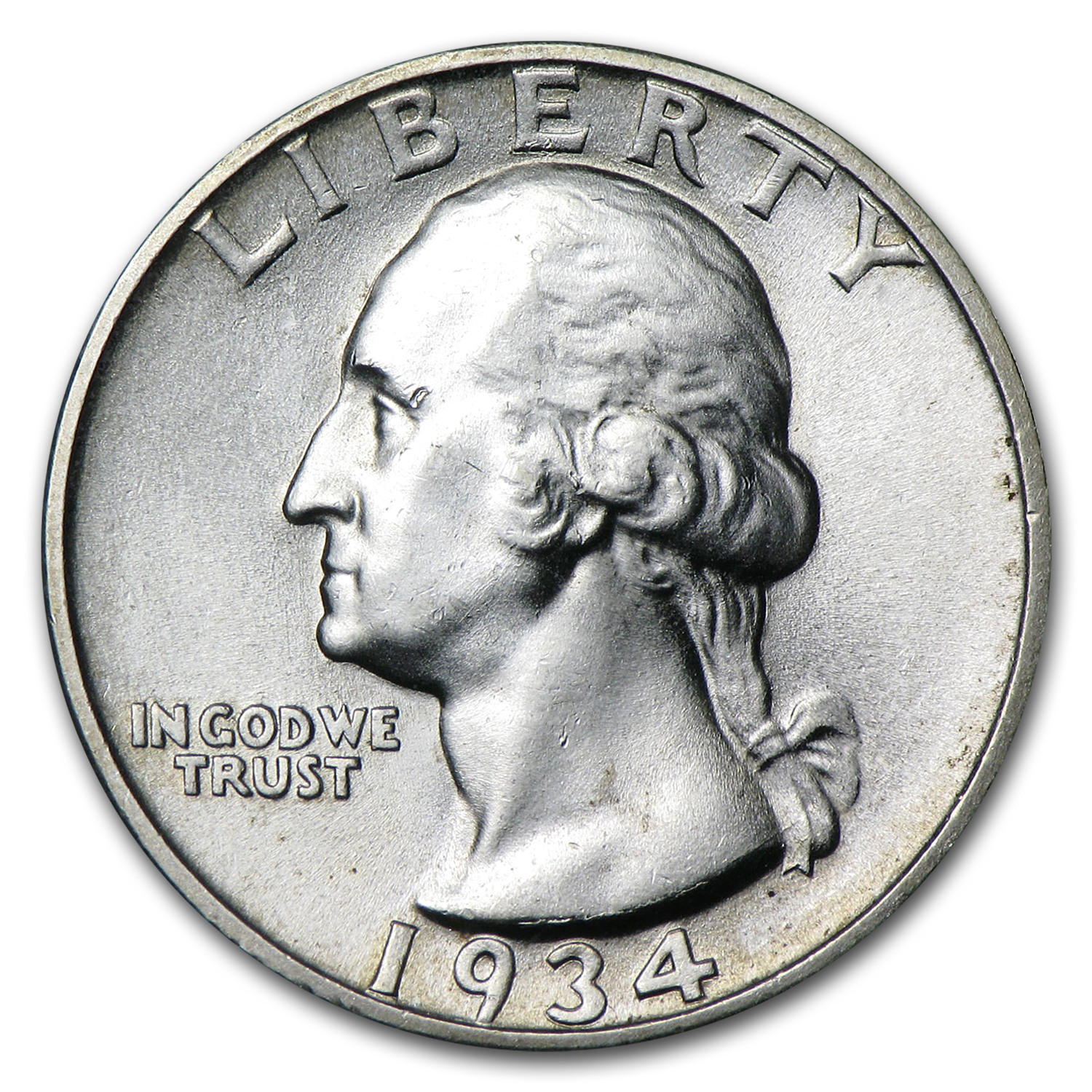 1934 Washington Quarter BU (Heavy Motto)