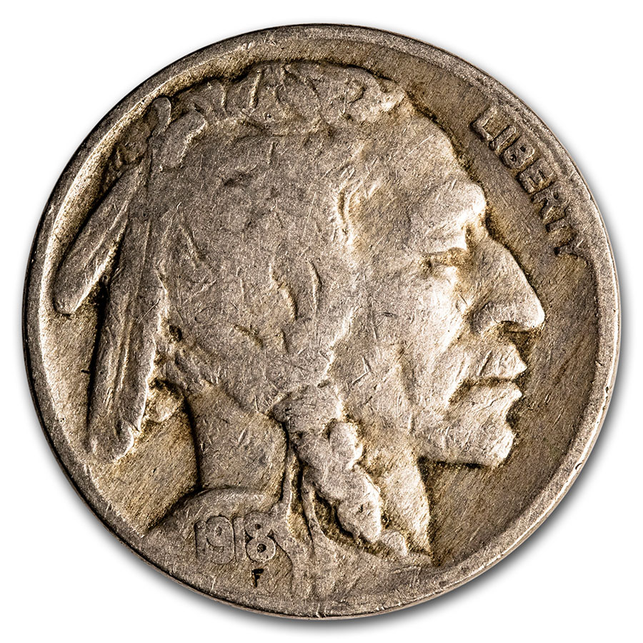 1918 Buffalo Nickel Fine