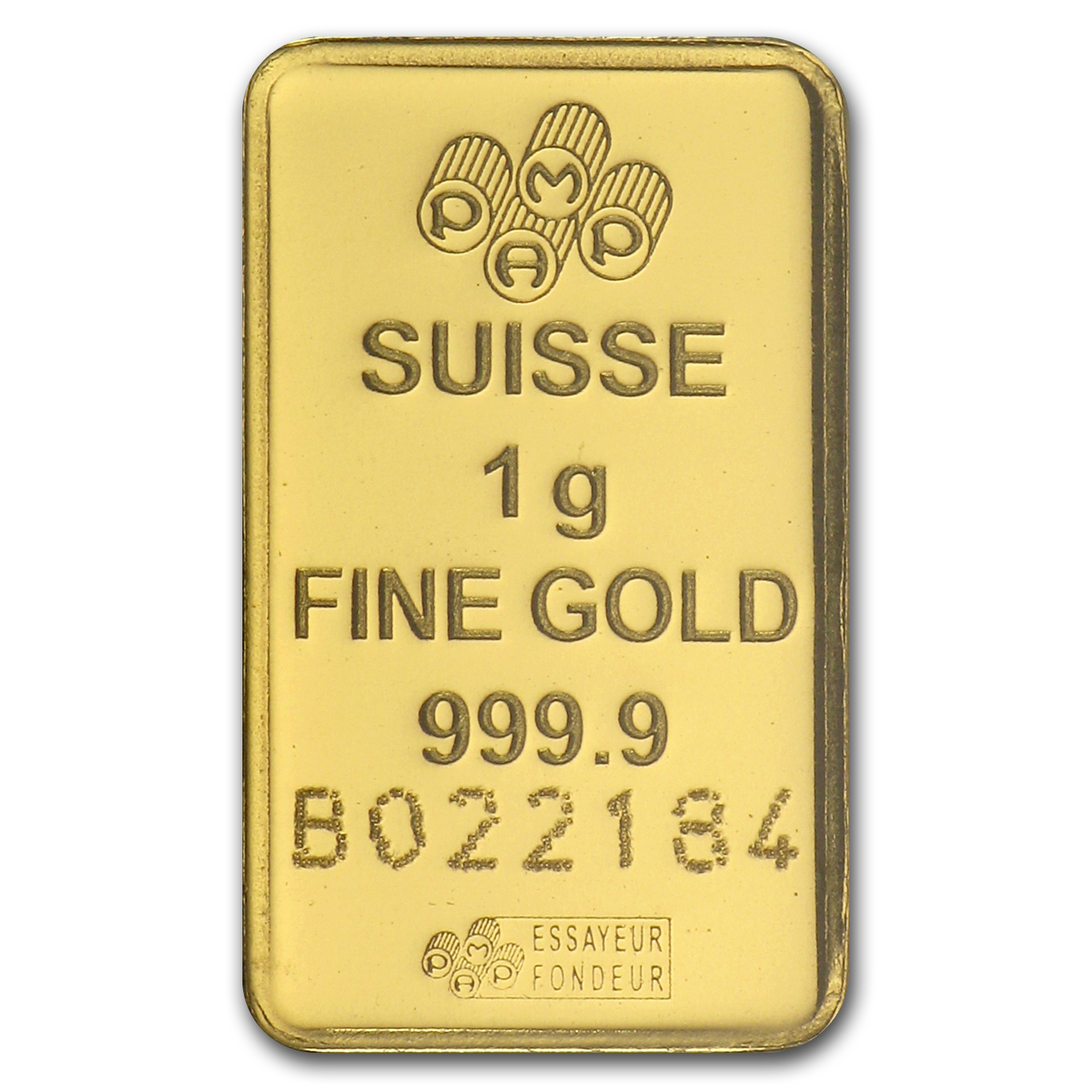 1 gram Gold Bar - PAMP Suisse Lady Fortuna (In Assay)