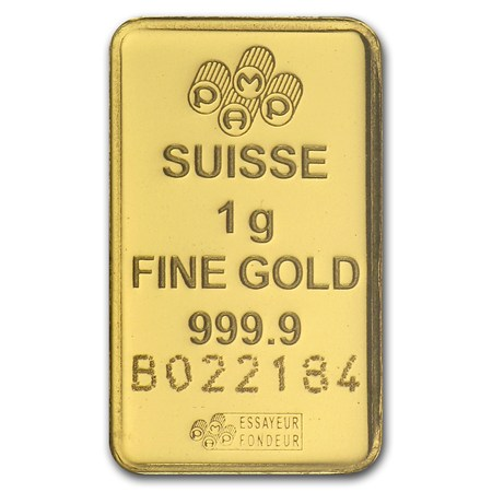 1 Gram Gold Bar Pamp Suisse Lady Fortuna In Assay