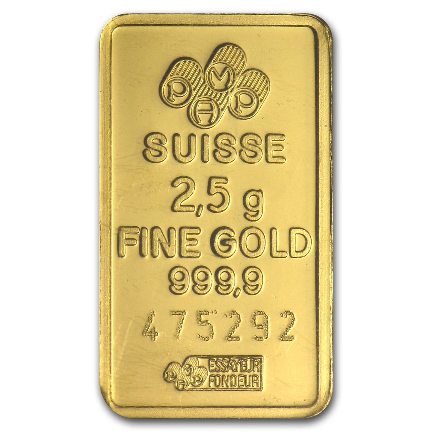 2.5 gram Gold Bar - PAMP Suisse Lady Fortuna (In Assay)