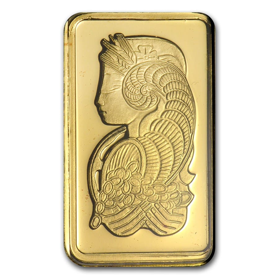 10 gram Gold Bar - Pamp Suisse Lady Fortuna (In Assay)