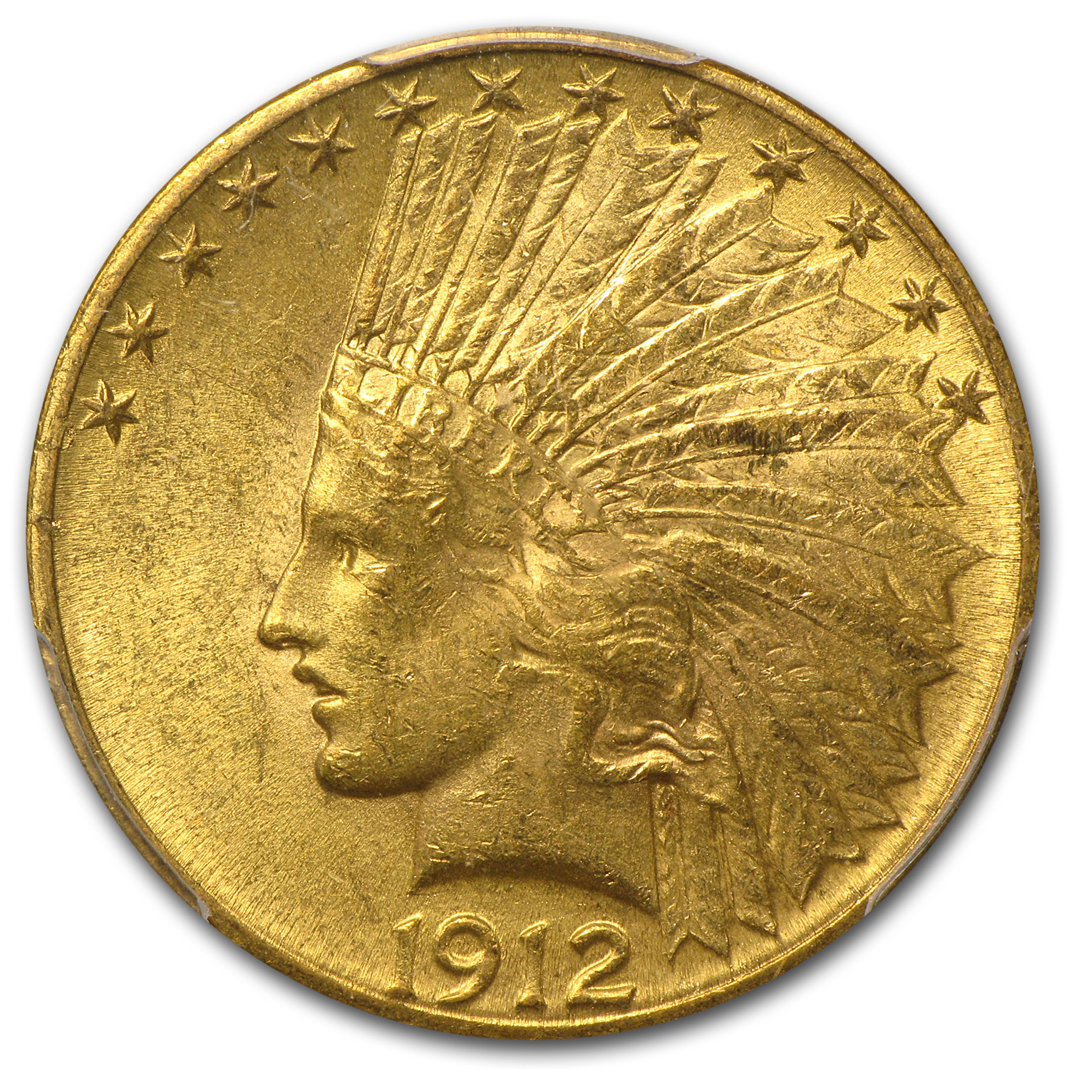 1912 $10 Indian Gold Eagle - MS-62+ PCGS