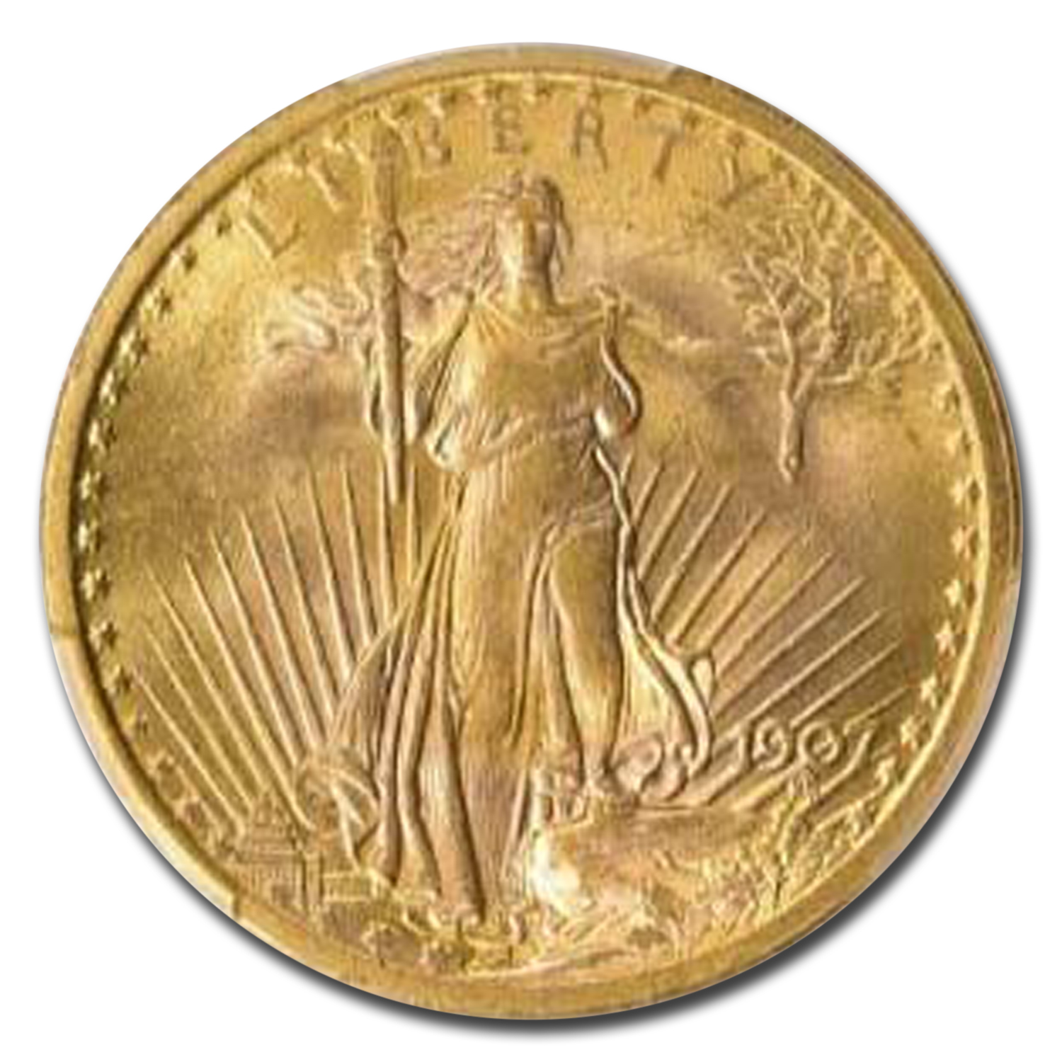 1907 $20 St. Gaudens Gold Double Eagle MS-64 PCGS