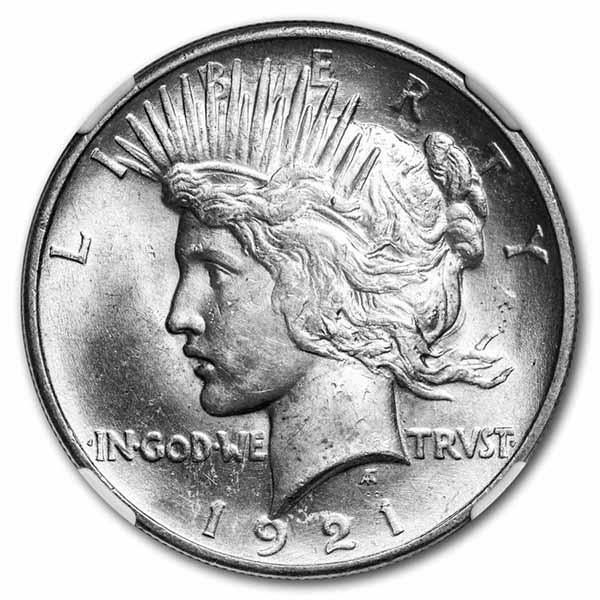 1921 Peace Dollar MS-64 NGC
