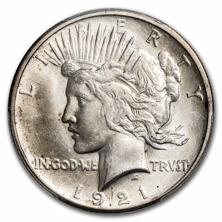 1921 Peace Dollar MS-64 PCGS