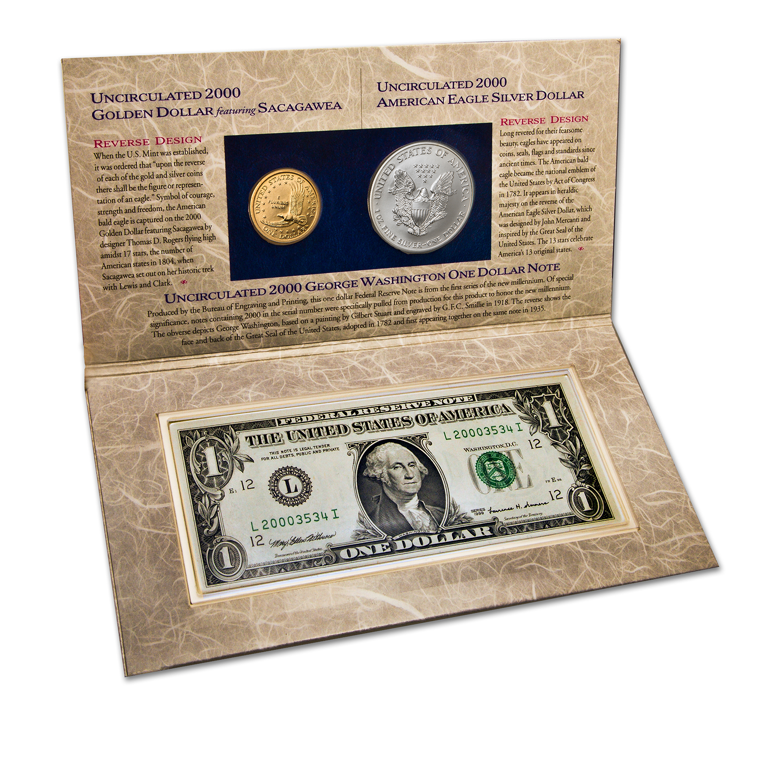 2000 U.S. Millennium Coinage and Currency Set (w/Box & COA)
