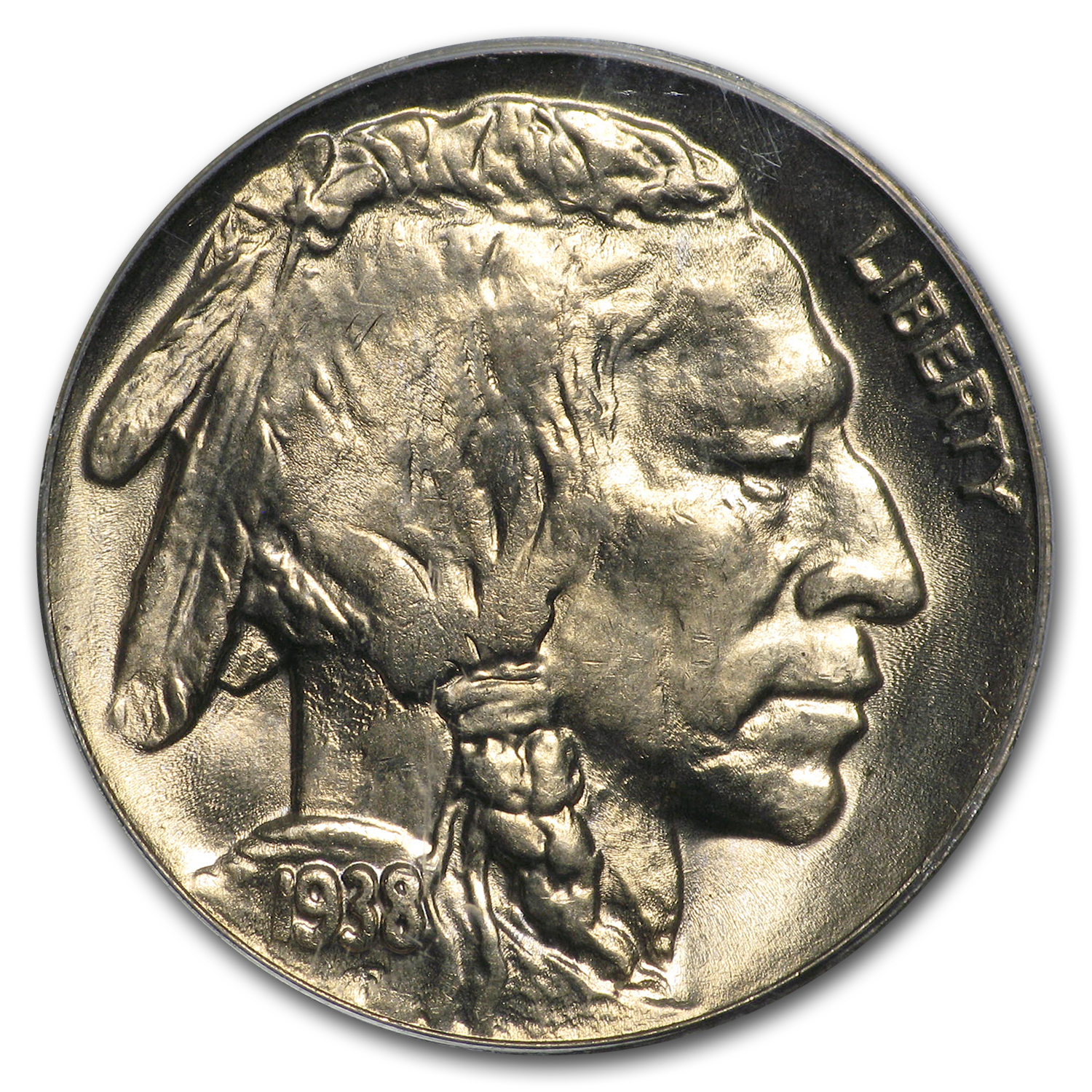 1938-D/D Buffalo Nickel MS-65 PCGS