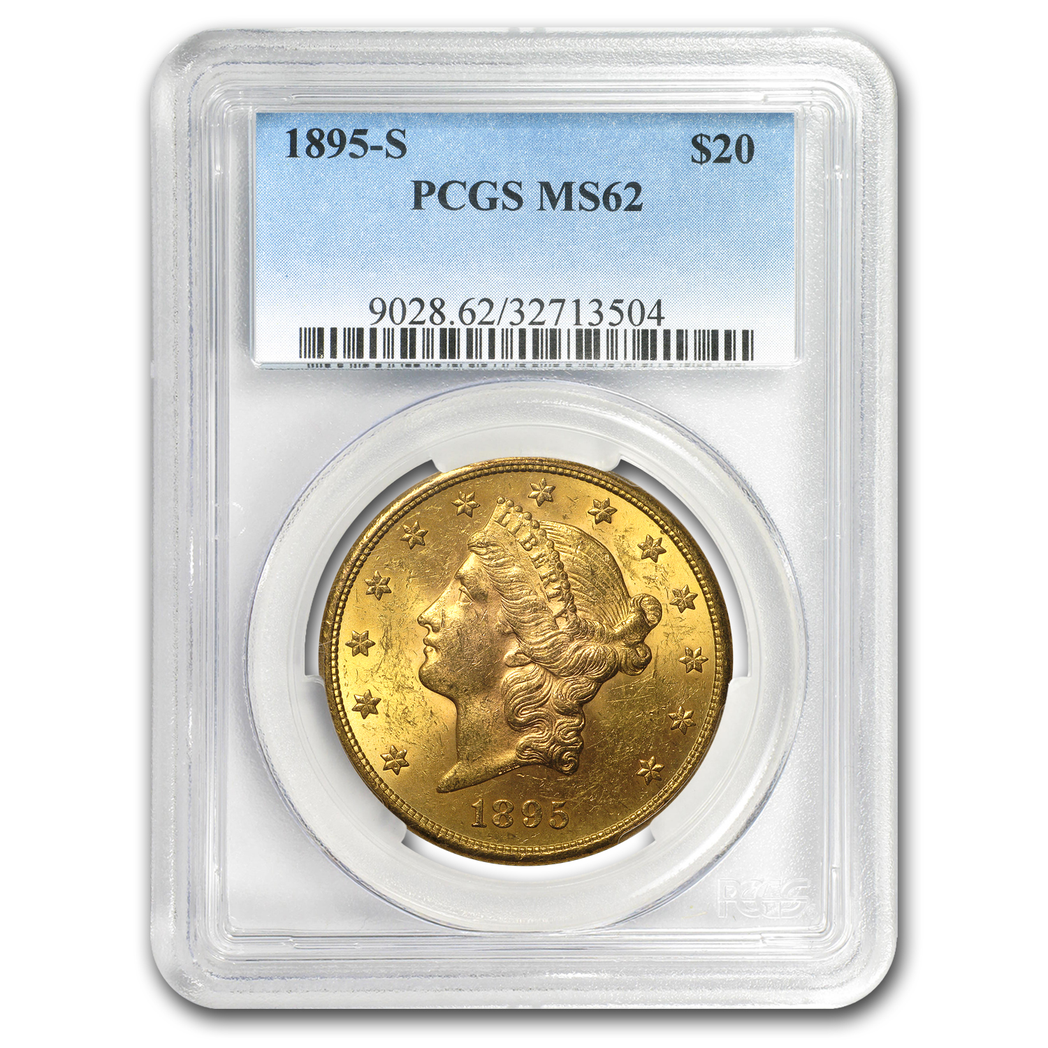 1895-S $20 Liberty Gold Double Eagle MS-62 PCGS