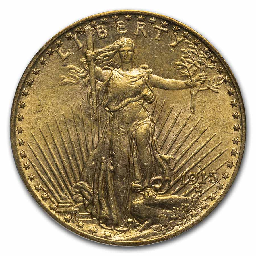 1915-S $20 Saint-Gaudens Gold Double Eagle MS-64 PCGS