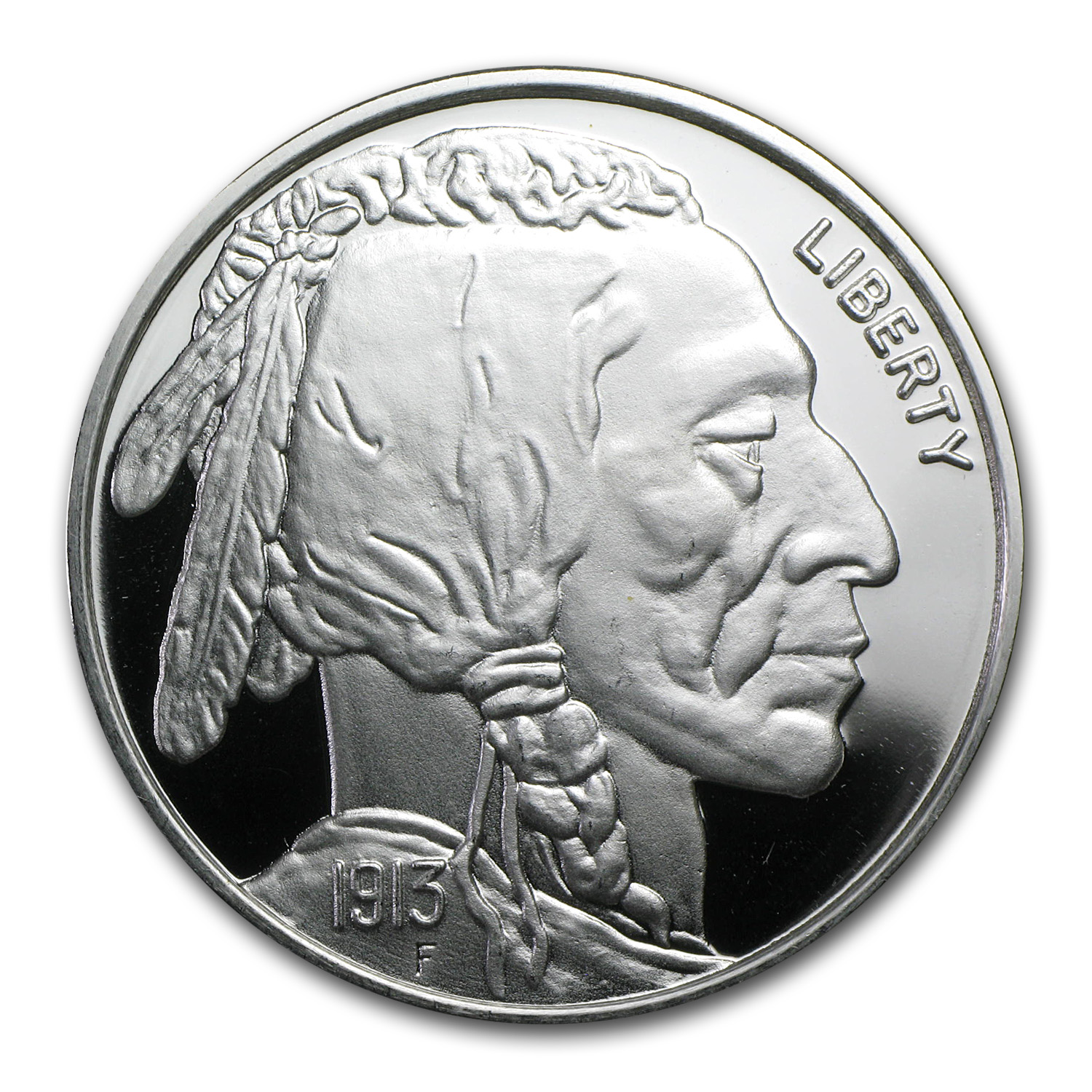 2 oz Silver Round - Buffalo Nickel (Replica)