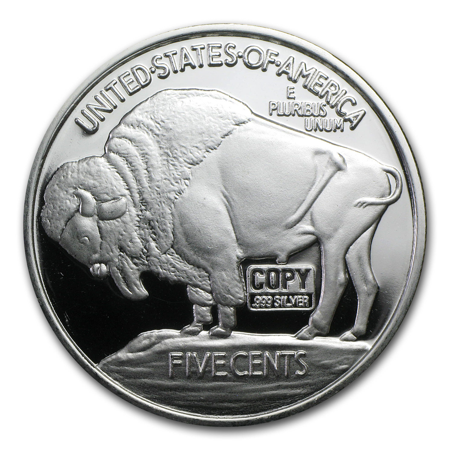 2 oz Silver Rounds - Buffalo Nickel (Replica)