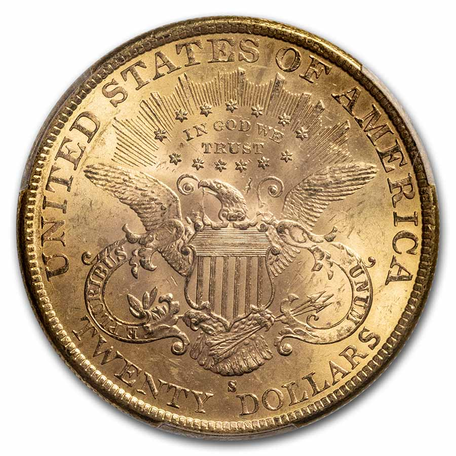 1891-S $20 Liberty Gold Double Eagle MS-62 PCGS