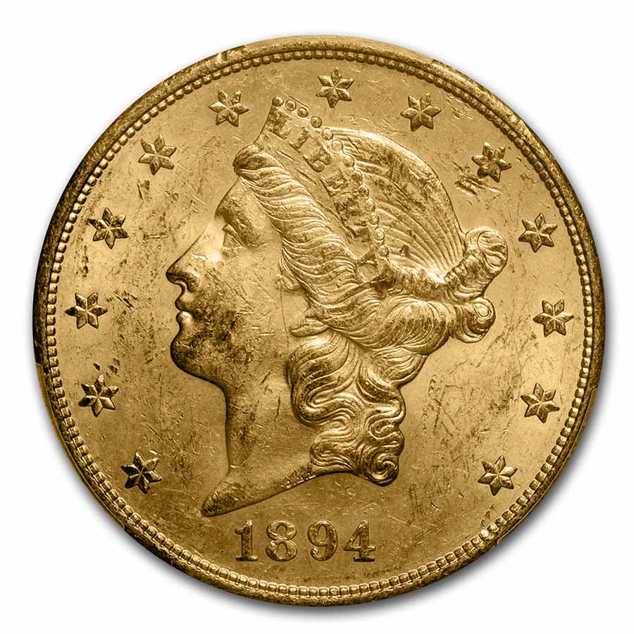 1894-S $20 Liberty Gold Double Eagle MS-62 PCGS