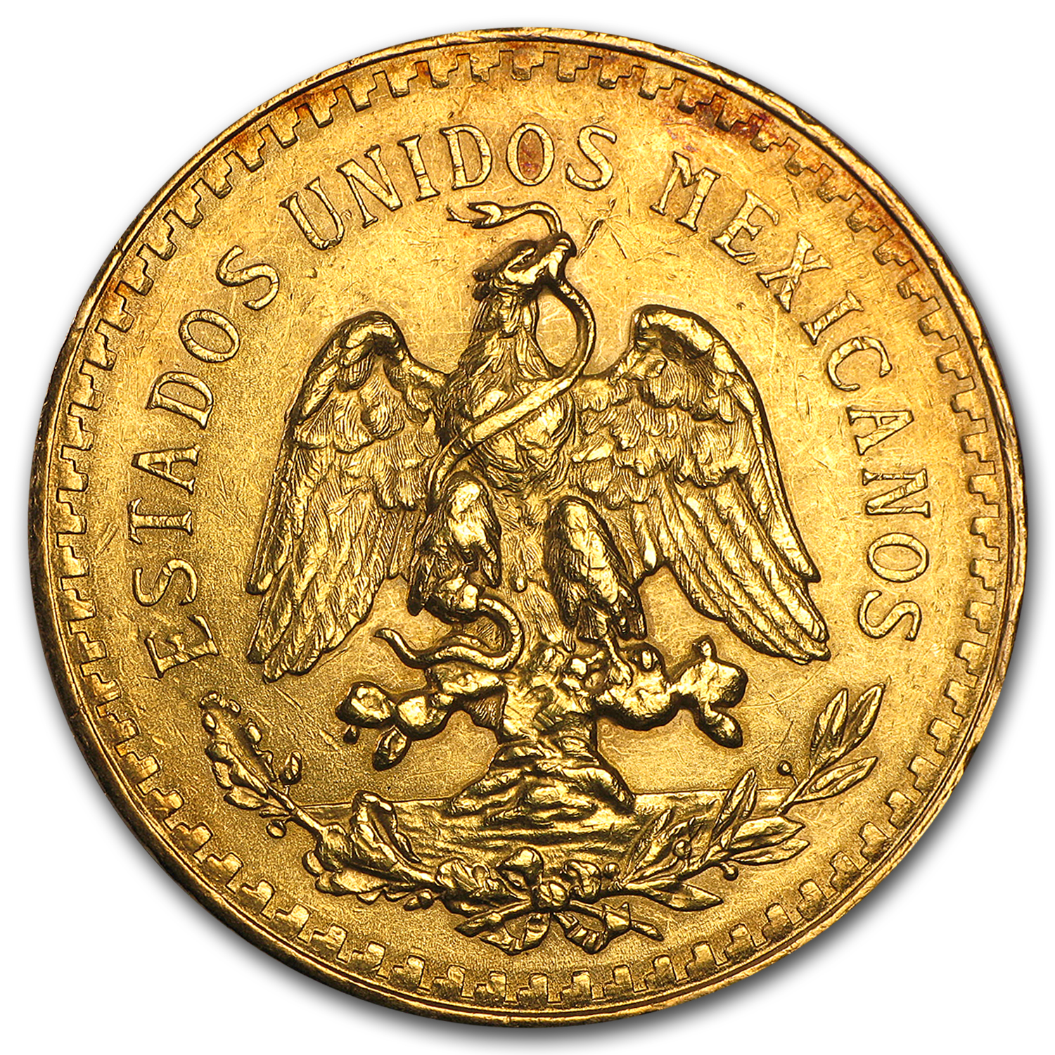 1924 Mexico Gold 50 Pesos AU