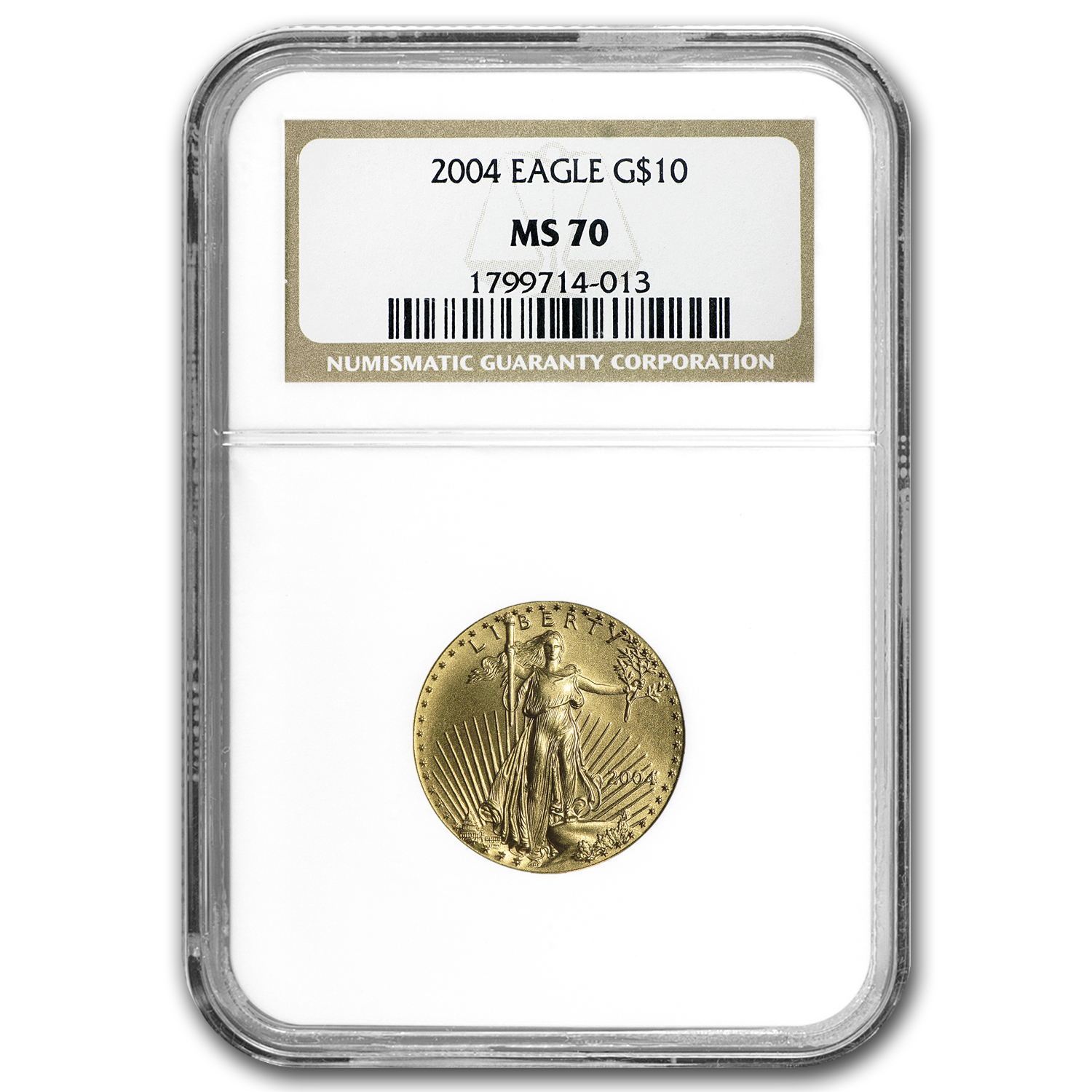 2004 1/4 oz Gold American Eagle MS-70 NGC