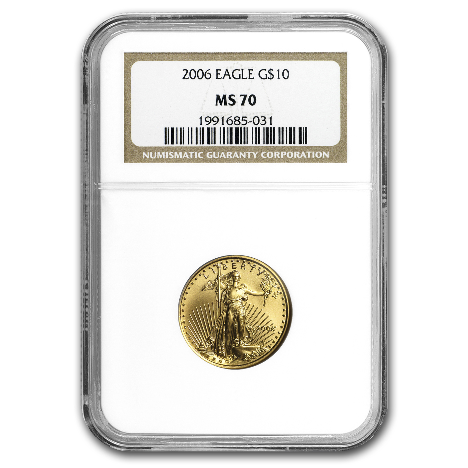 2006 1/4 oz Gold American Eagle MS-70 NGC