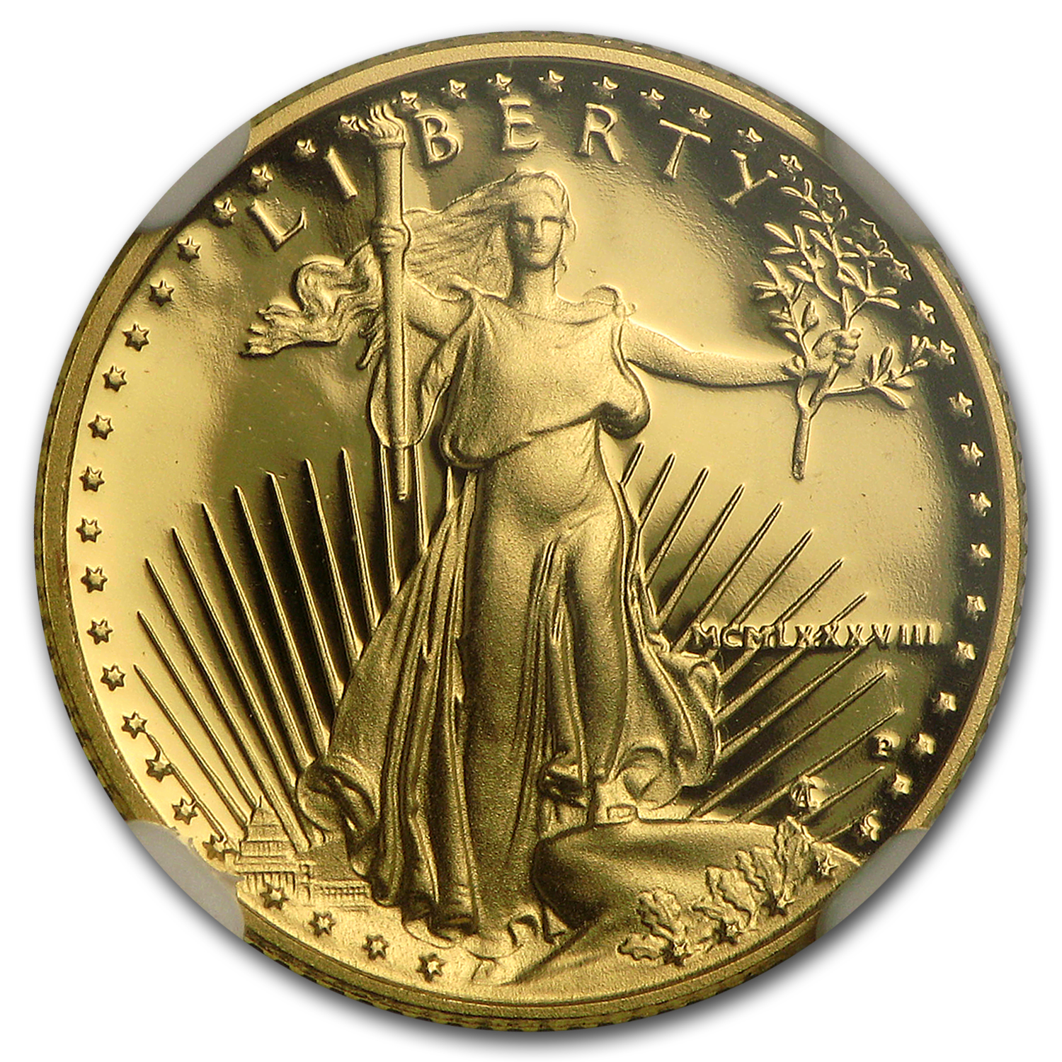1988-P 1/10 oz Proof Gold American Eagle PF-70 UCAM NGC