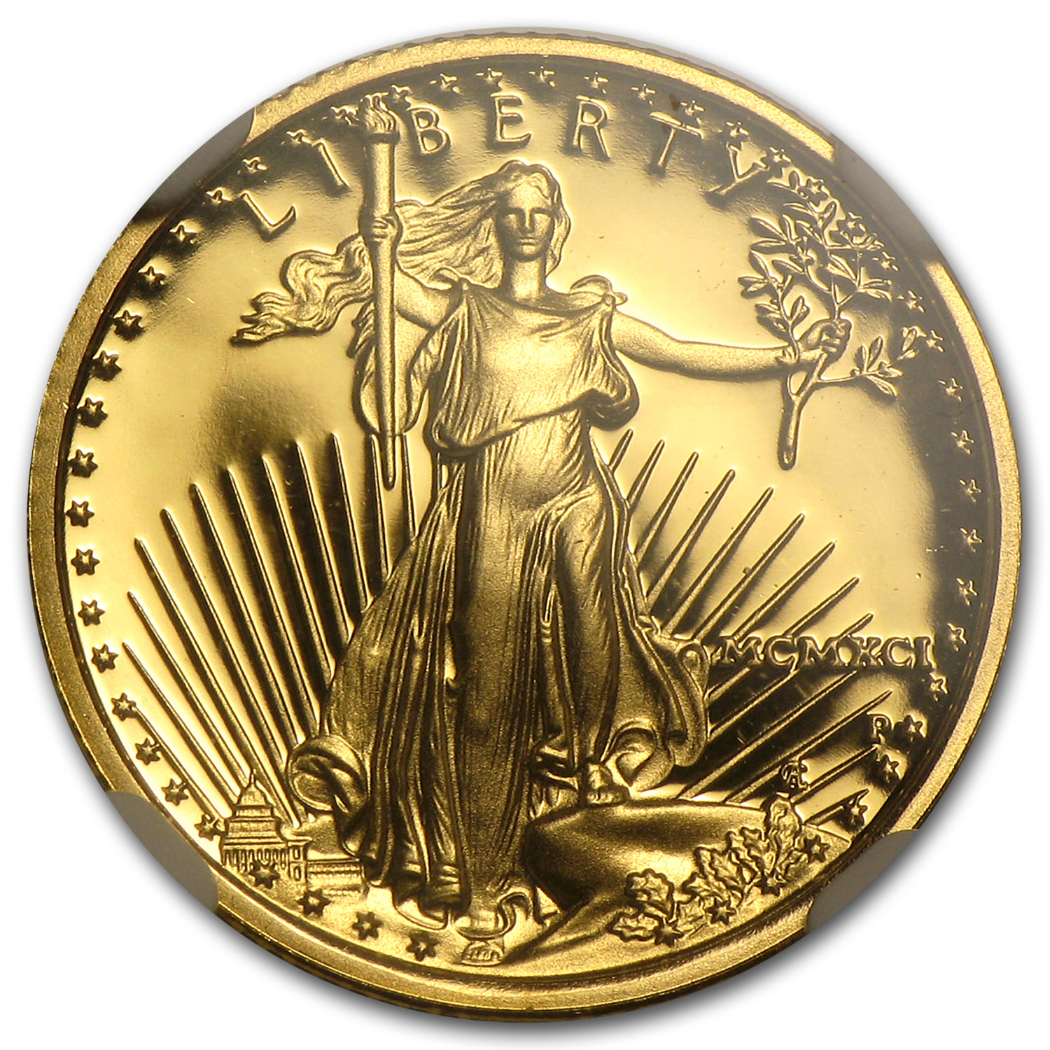 1991-P 1/10 oz Proof Gold American Eagle PF-70 NGC