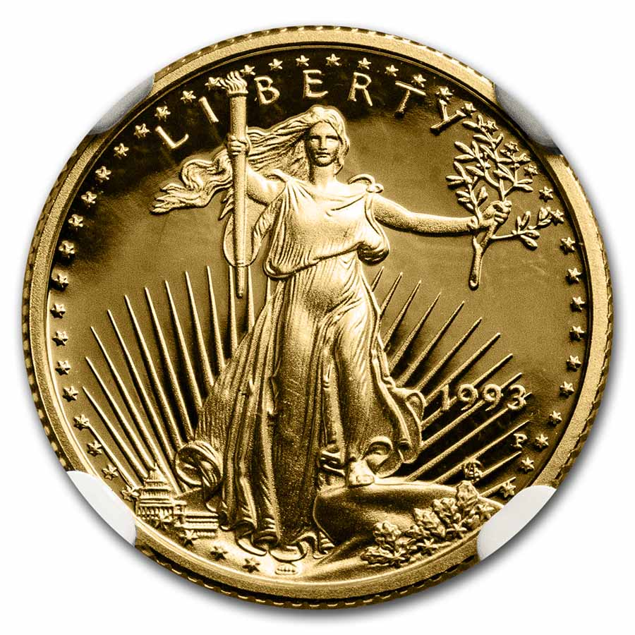 1993-P 1/10 oz Proof Gold American Eagle PF-70 NGC