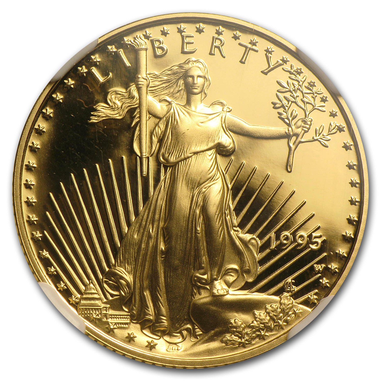 1995-W 1/4 oz Proof Gold American Eagle PF-70 NGC