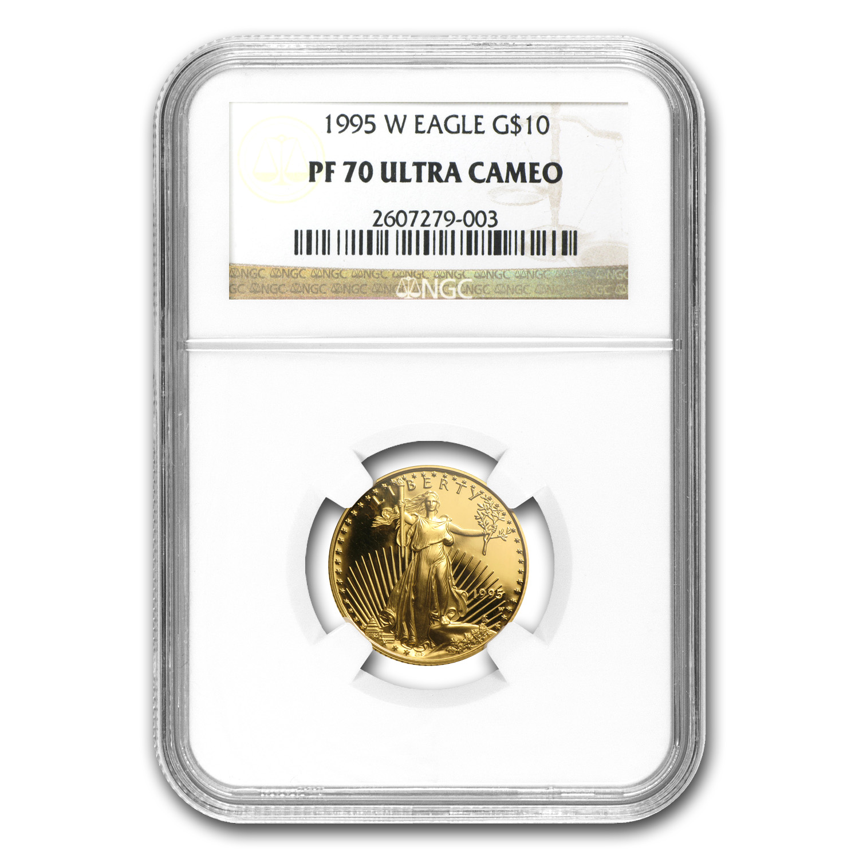 1995 W 1 4 Oz Proof Gold American Eagle Pf 70 Ngc 1 4 Oz