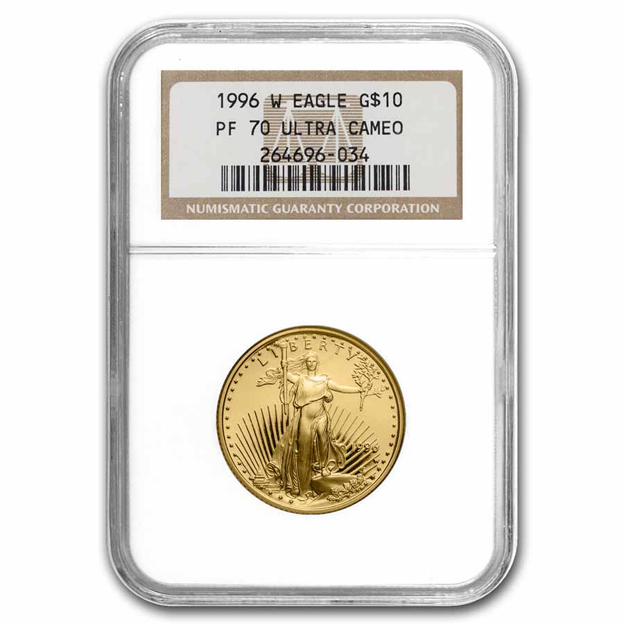 1996-W 1/4 oz Proof Gold American Eagle PF-70 NGC
