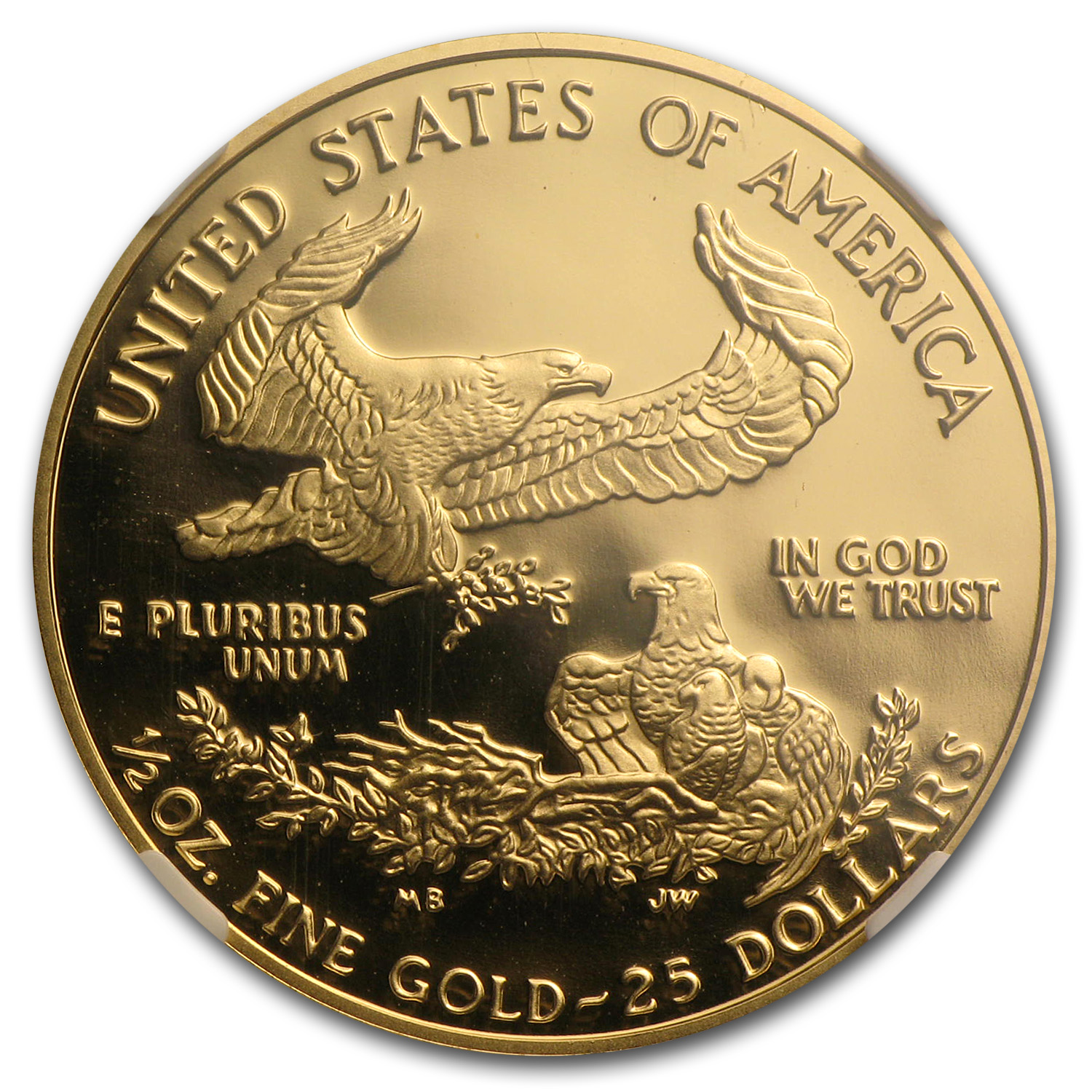 1996-W 1/2 oz Proof Gold American Eagle PF-70 NGC