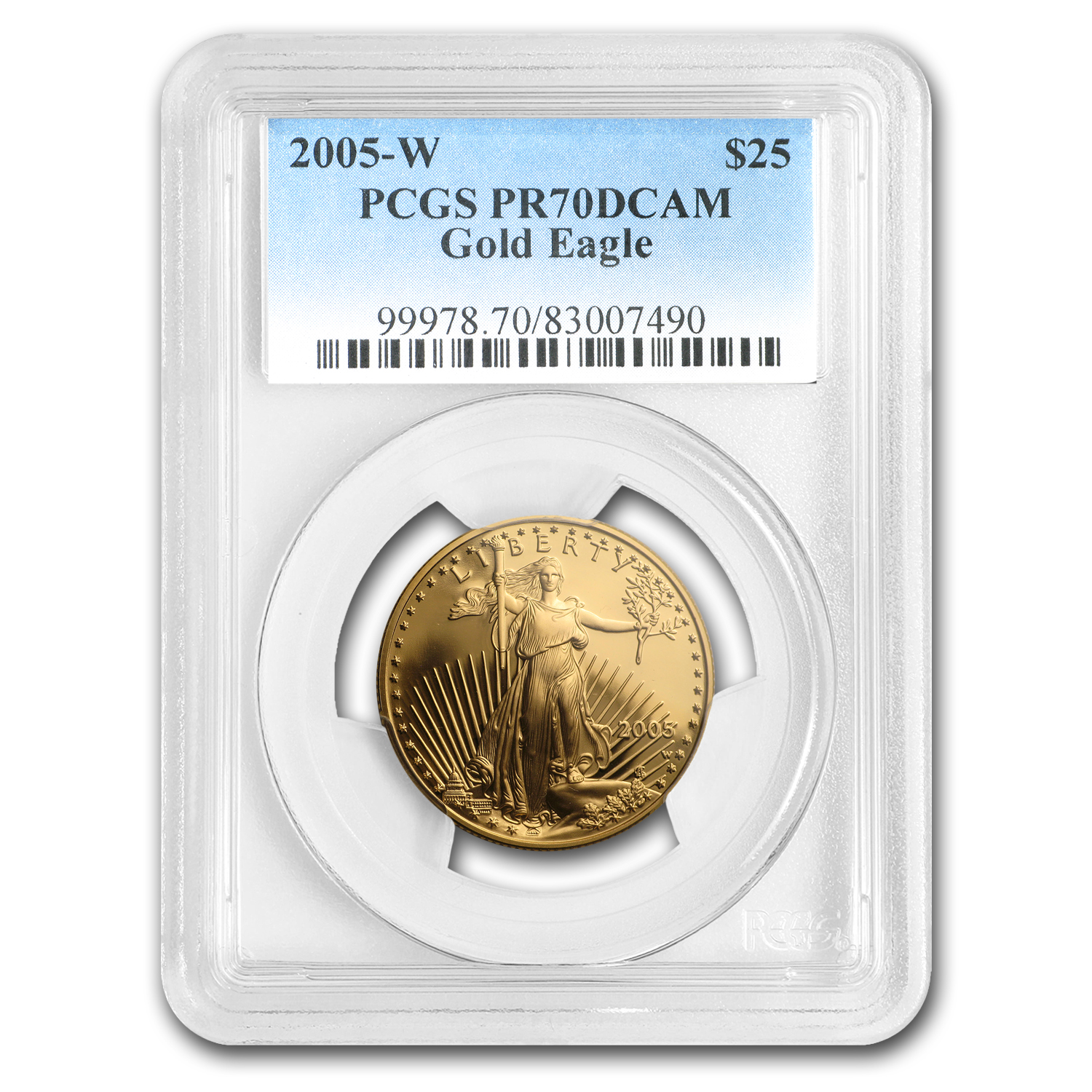 2005-W 1/2 oz Proof Gold American Eagle PR-70 PCGS