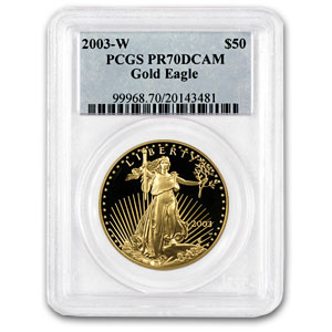 2003-W 1 oz Proof Gold American Eagle PR-70 PCGS