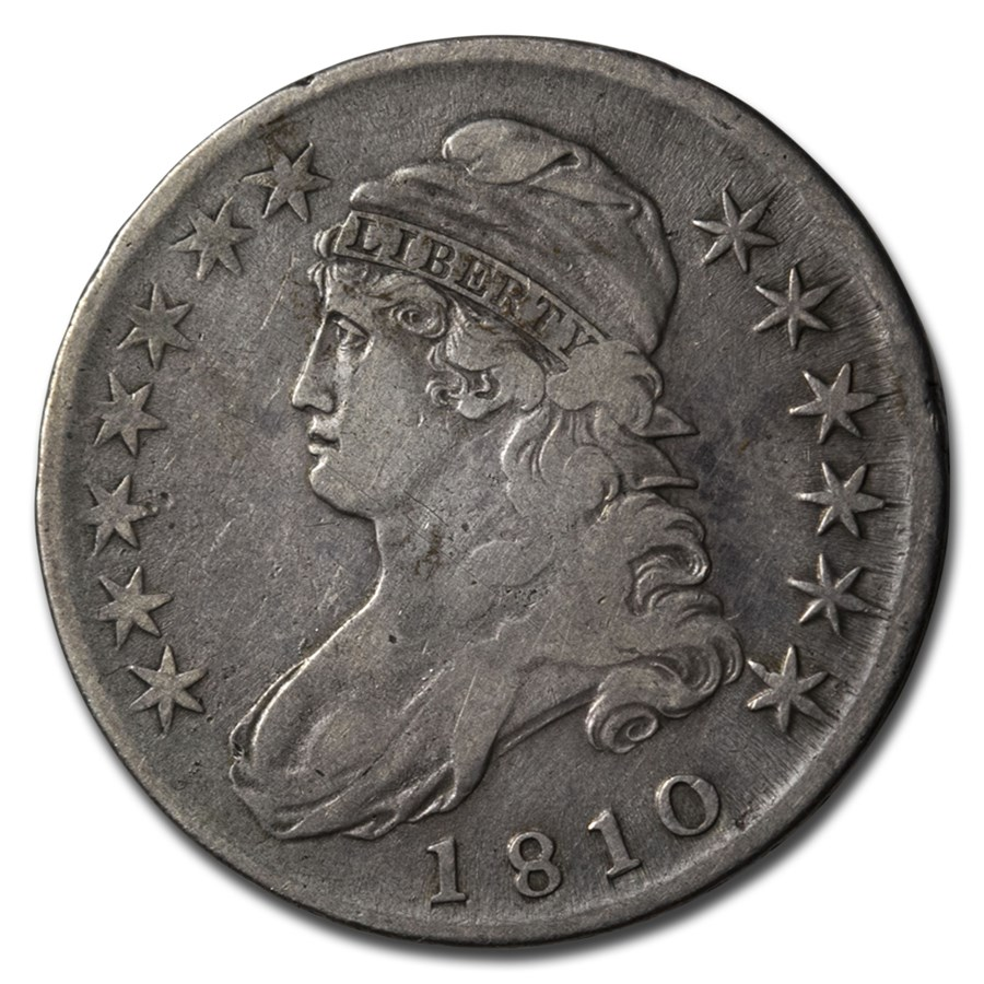 1810 Capped Bust Half Dollar Fine Early Half Dollars