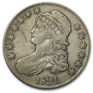 1831 Capped Bust Half Dollar VF