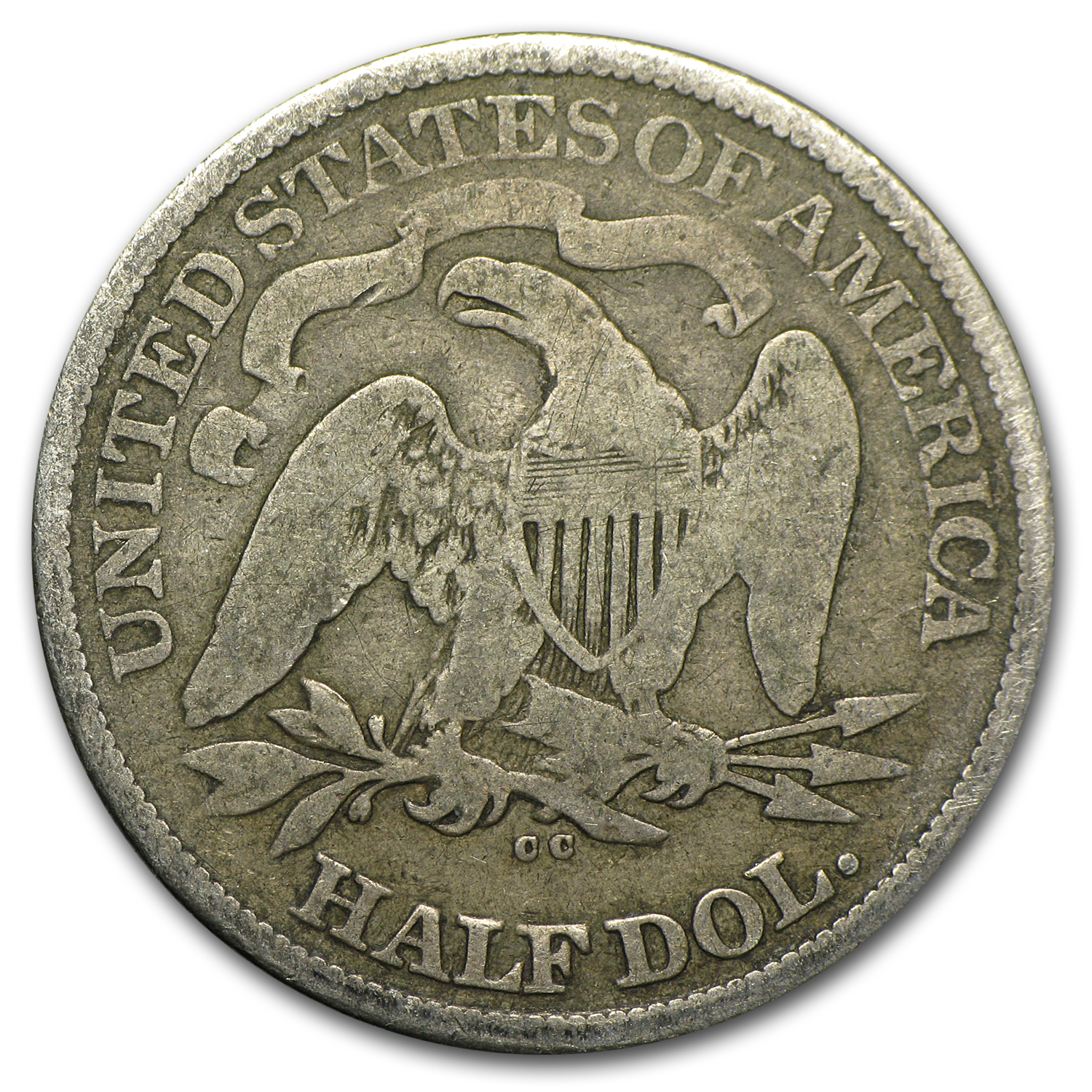 1877-CC Liberty Seated Half Dollar Good