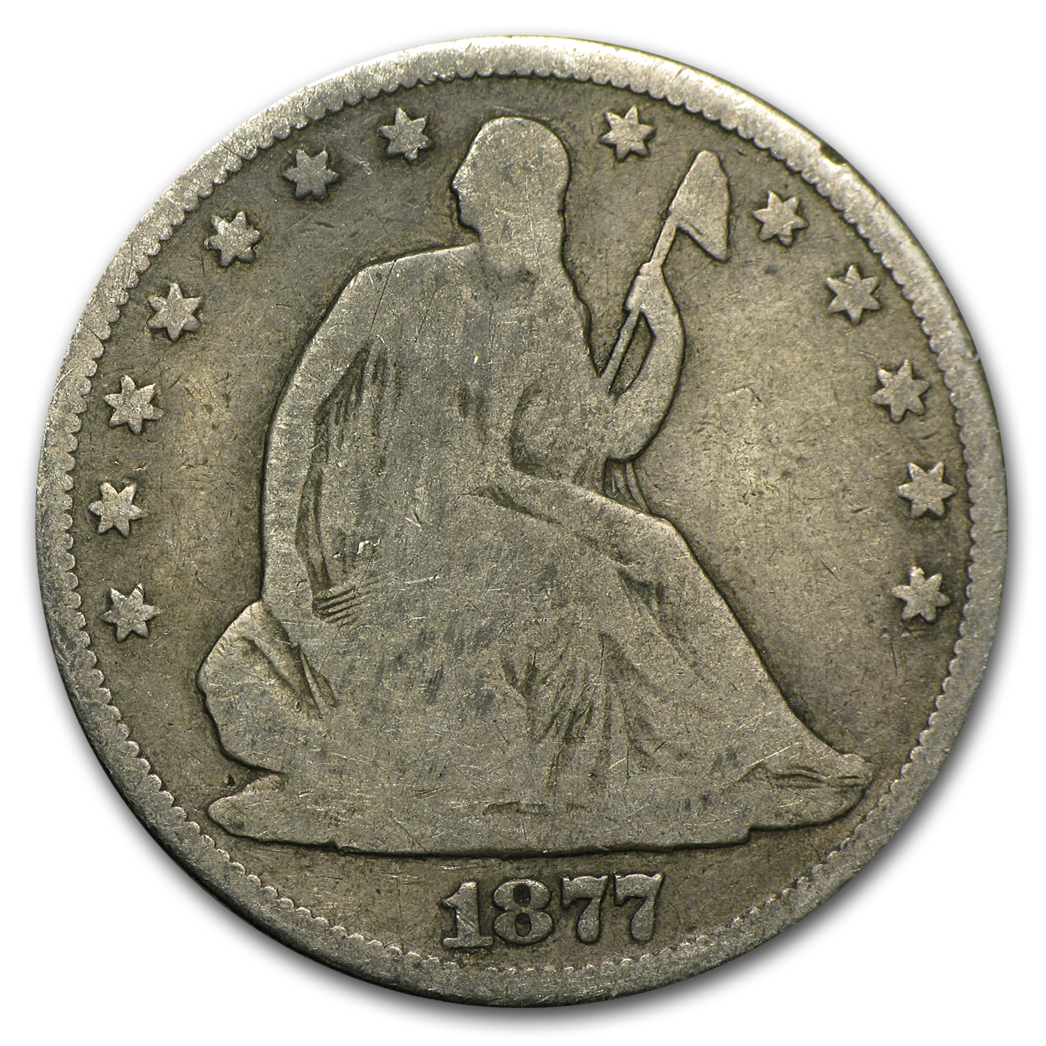1877-CC Good - Seated Liberty Half Dollar