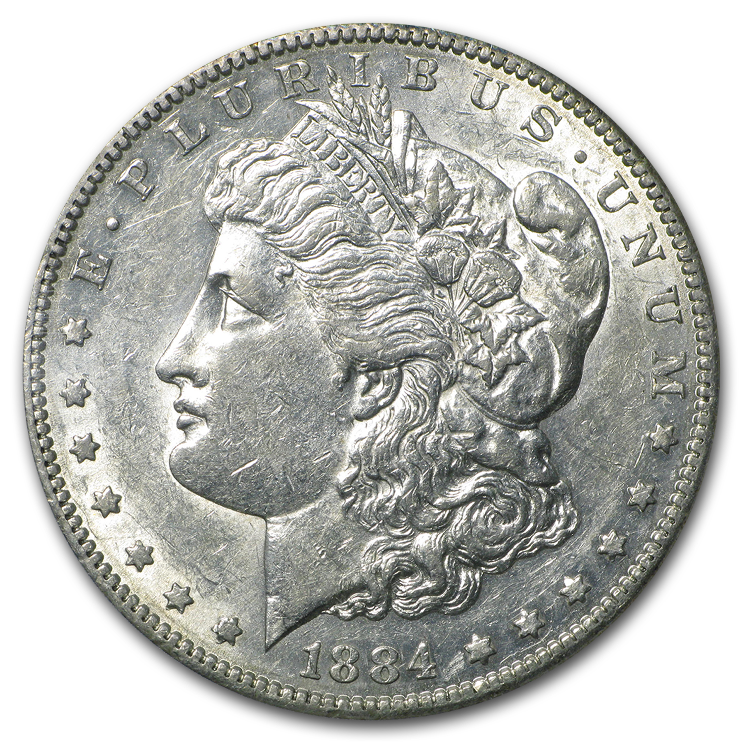 1884-S Morgan Dollar - Almost Uncirculated-50