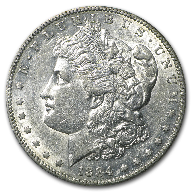 1884 S Morgan Dollar Au 50 Morgan Dollars 1878 1904