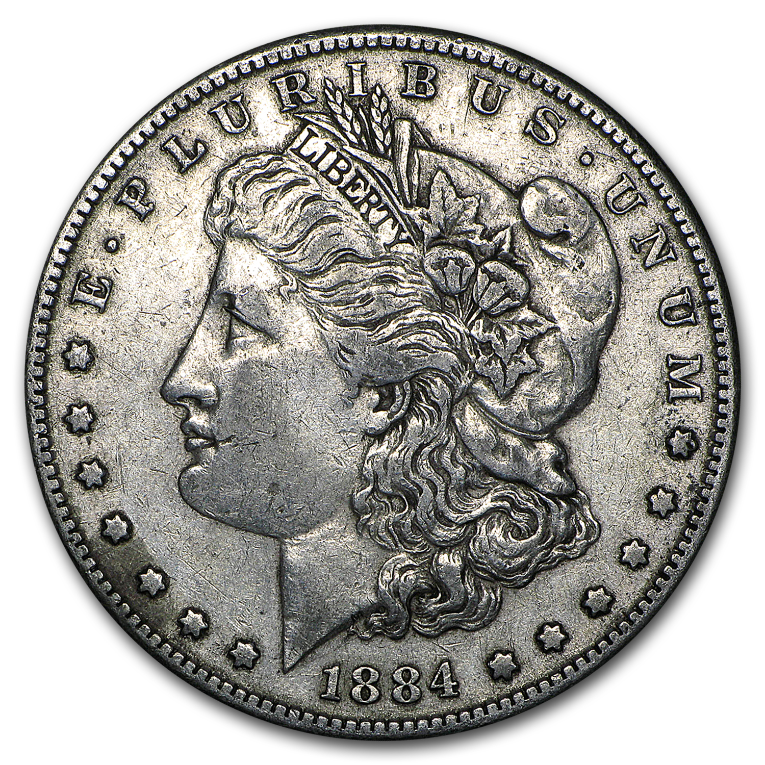 1884-S Morgan Dollar XF-45