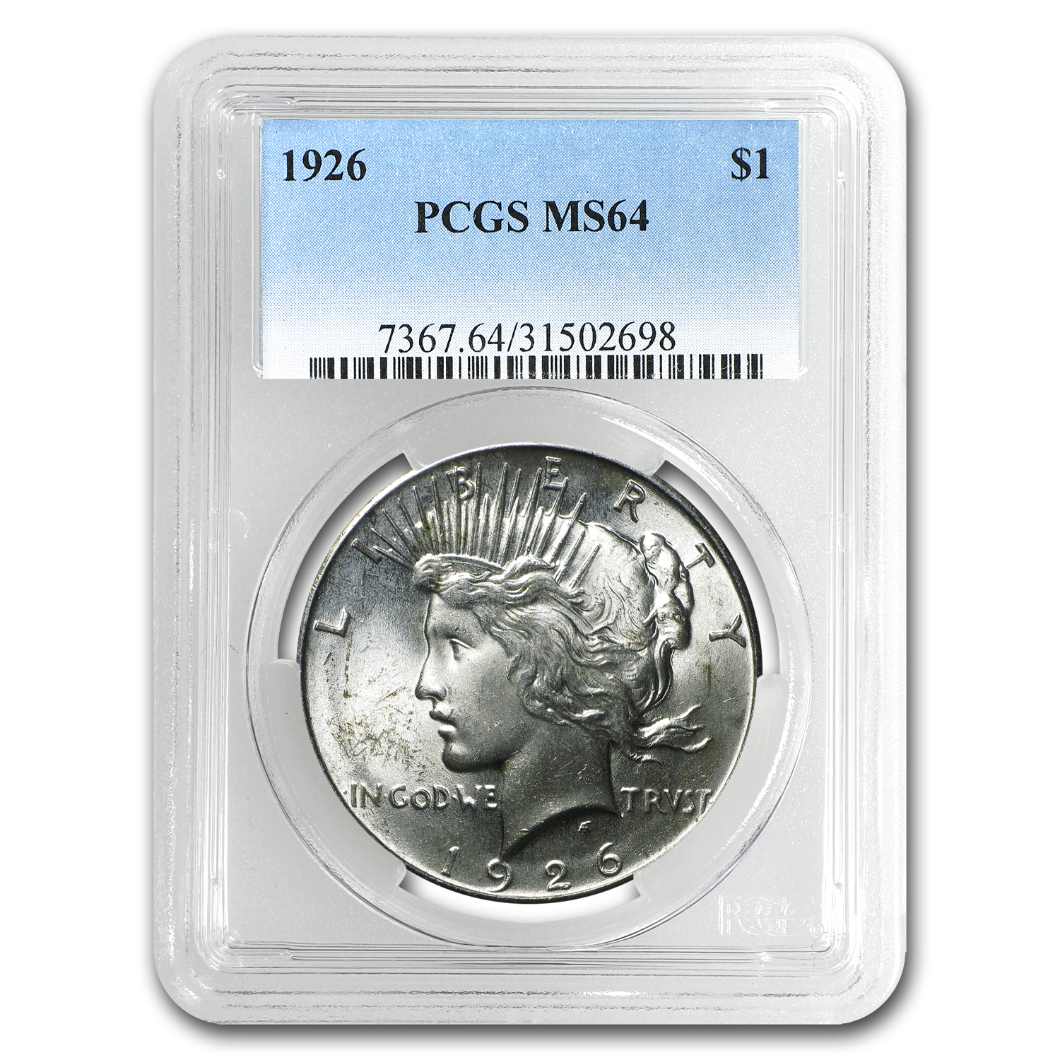1926 Peace Dollar MS-64 PCGS