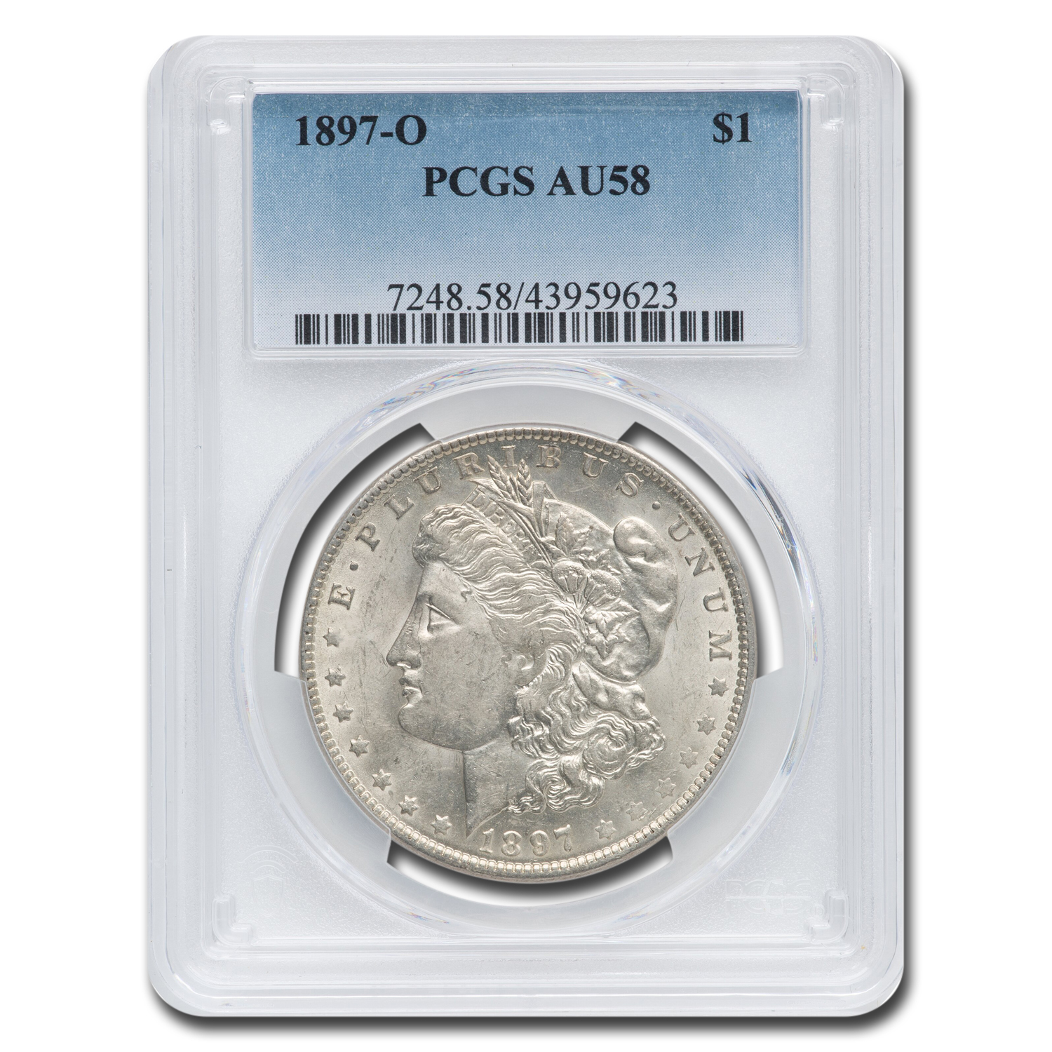 1897-O Morgan Dollar Almost Uncirculated-58 PCGS