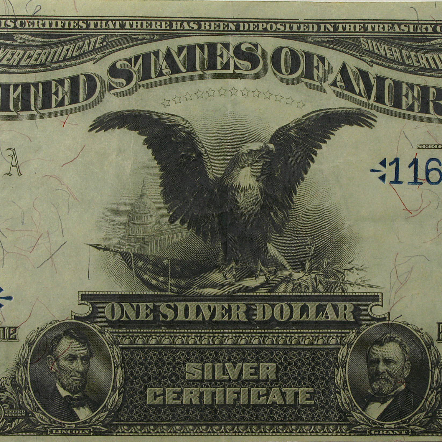 1899 $1.00 Silver Certificate Black Eagle (Very Fine +)