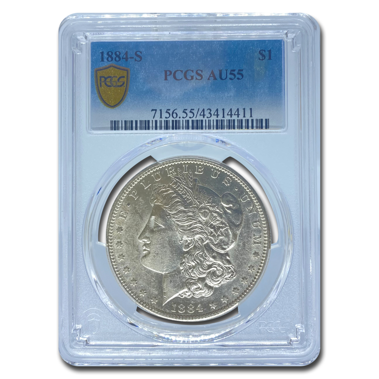 1884-S Morgan Dollar Almost Uncirculated-55 PCGS