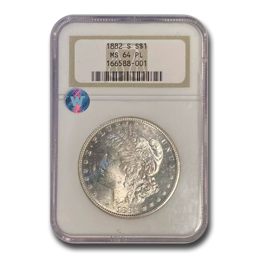 1882-S Morgan Dollar MS-64 PL NGC