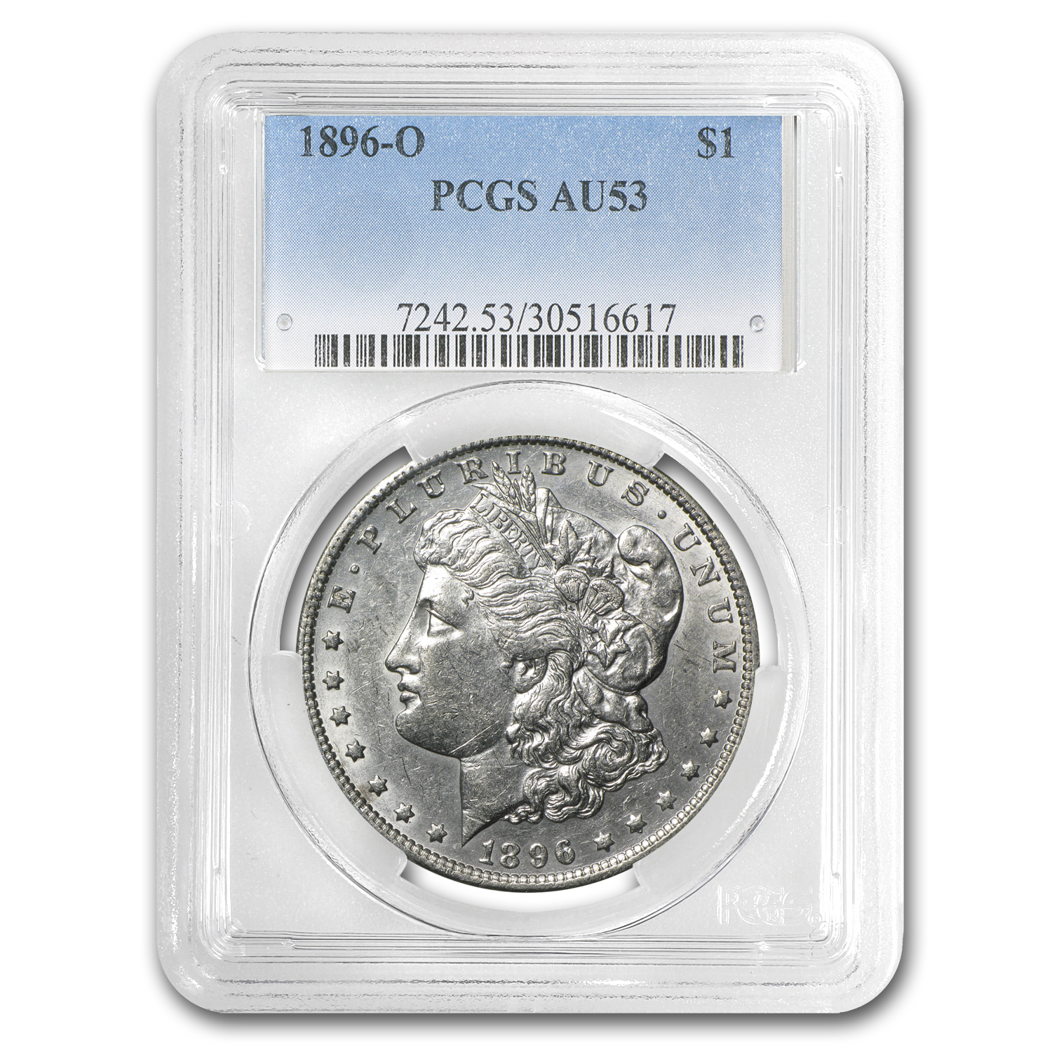1896-O Morgan Dollar Almost Uncirculated-53 PCGS