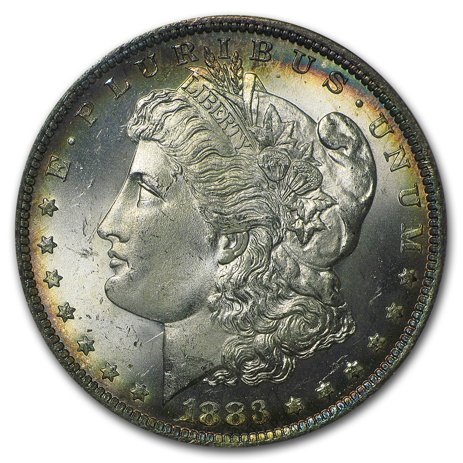 1883-O Morgan Dollar MS-65 NGC (Nice Toning on Obv & Rev)