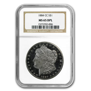 1884-CC Morgan Dollar MS-65 DPL NGC